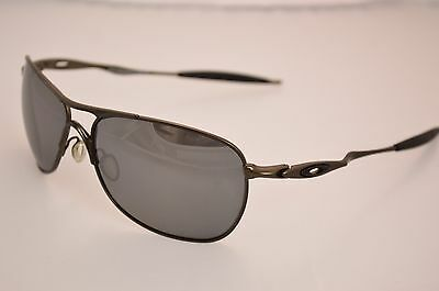 93cc9b7b9e5 DISPLAY MODEL Oakley OO6014-02 Crosshair Ti Pewter Black Iridium Polarized  Mens