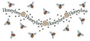 "1 Honey Bee Hive Wrap 7-1/2"" X 3-1/2"" Waterslide Ceramic Decal Bx"
