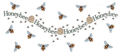 "1 Honey Bee Hive Wrap 7-1//2/"" X 3-1//2/"" Waterslide Ceramic Decal Ox"