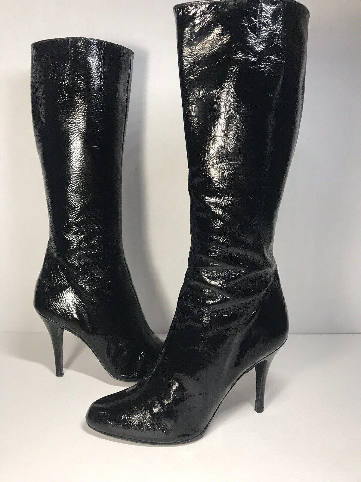 Di nuccio Patente Leather Boots  8 US 38