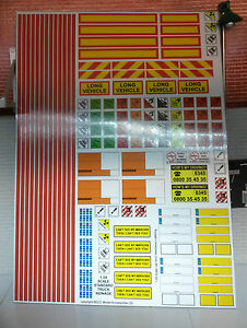 G LGB 1:24 Scale Modern HGV Truck Lorry Trailer Model Kit Decal Stickers Code 3
