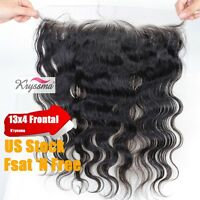 7a Lace Frontal Brazilian Virgin Remy Human Hair Body Wave Lace Closures 13x4