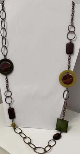 Vintage Mid Century Wood Necklace