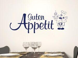 Details zu Wandtattoo Küche Guten Appetit Spruch Koch Wanddeko Küchentattoo  Schriftzug Deko