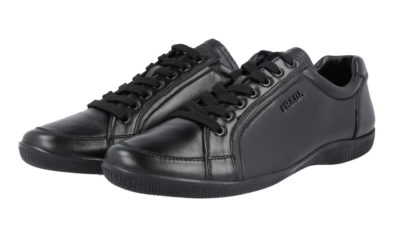 LUXUS PRADA SNEAKER SCHUHE 3E5620 black NEU NEW 40 40,5 UK 7