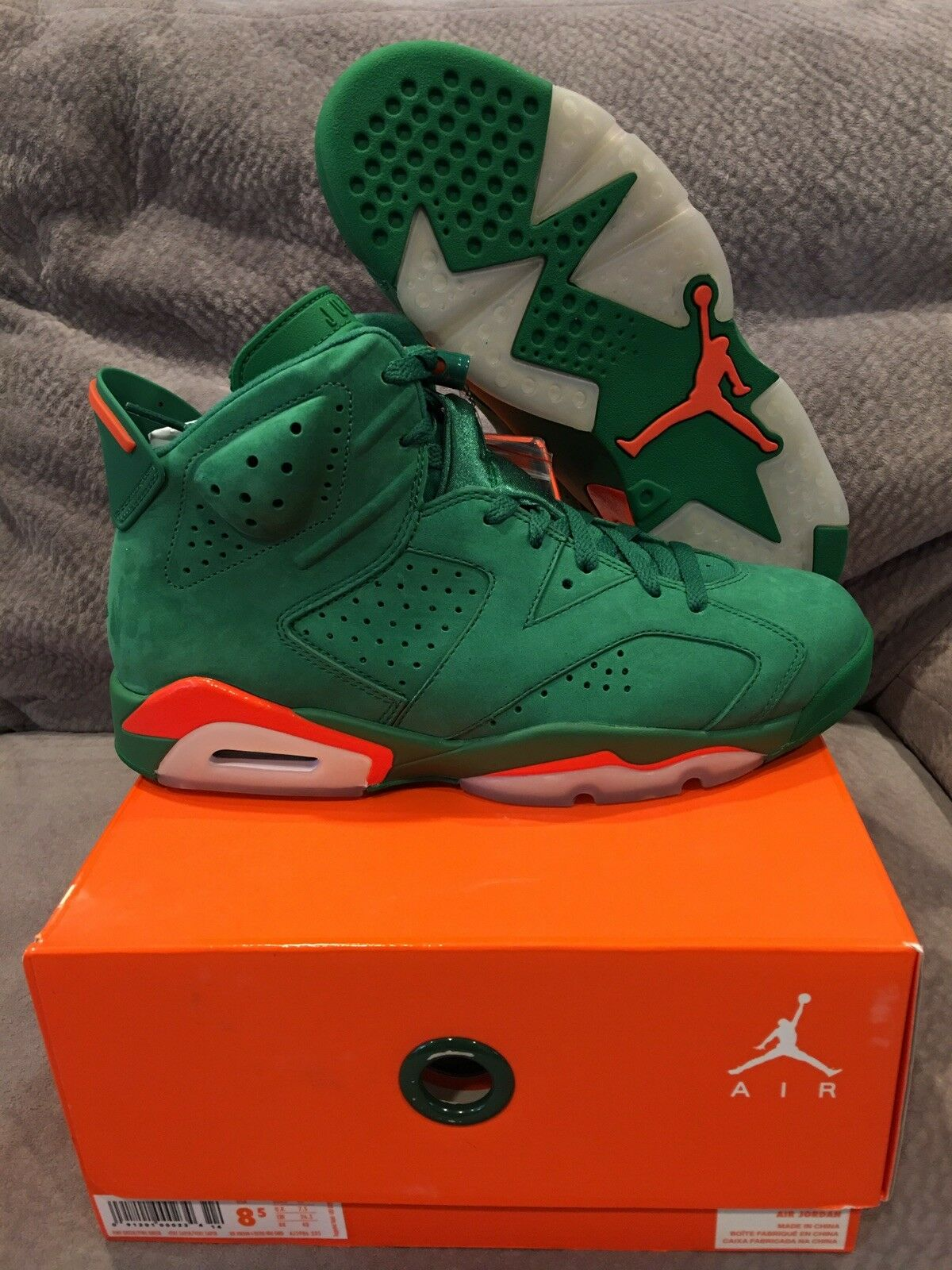Brand New Nike Air Jordan 6 Retro Gatorade Nrg Size 8.5 100% Authetic DS in hand
