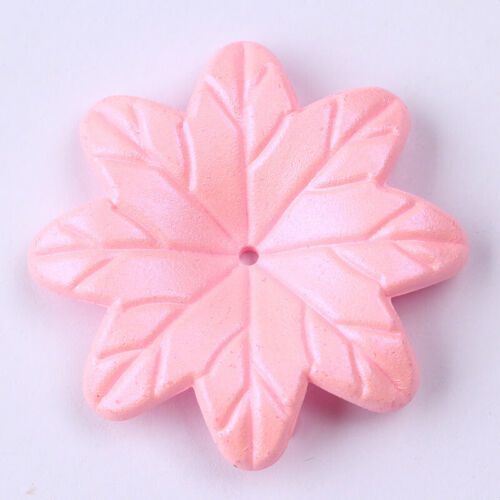 39mm x 50  Large Frosted Lucite Acrylic Flower Beads Jewellery Angle Making