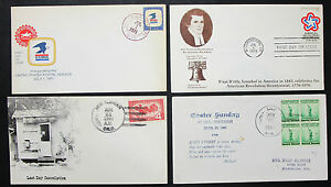 US-Postage-Set-of-4-Covers-Letters-Envelopes-War-Patriot-FDC-USA-Letters-H-8304