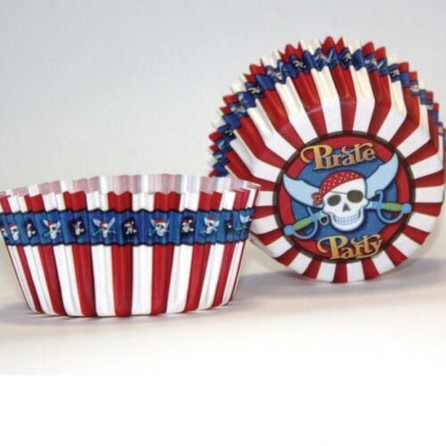 50 Muffinförmchen Pirat für Kinderparty Piraten Muffin Piratenparty Piratenfest