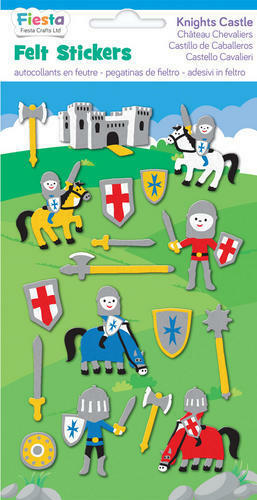 Knight Castle Felt Stickers Sticker Pack Kit Set Stocking Filler Party Bag Gift