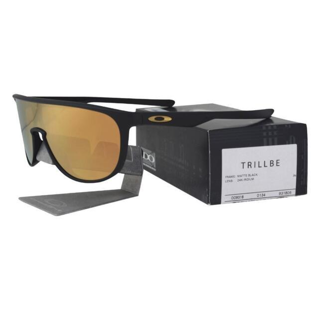 f136ace1ff ... purchase oakley oo 9318 06 trillbe matte black 24k iridium mirror lens  mens sunglasses d3380 56280 discount code for ...