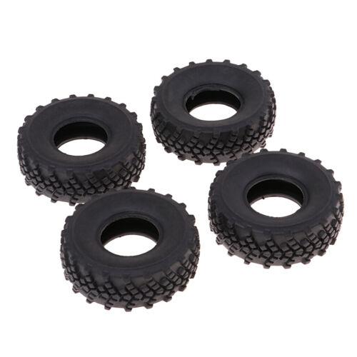 4er-Set Schwarz Reifen Gummin Felgen für 1//16 WPL RC Auto