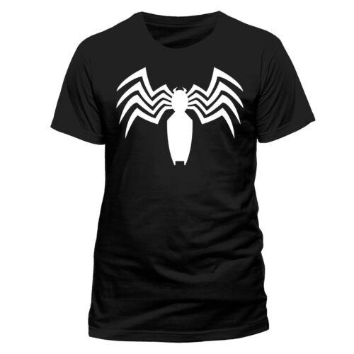 Venom Logo Official Marvel Spider-man Symbiote Carnage Black Mens T-shirt