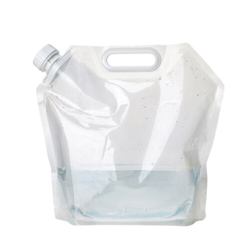 2 Pcs Folding Drinking Water Bucket Water Container Storage Bag Outdoor Camping