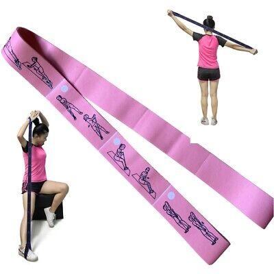 Yoga Guide Stretch élastique de Résistance Exercice Fitness Band Gym Entraînement