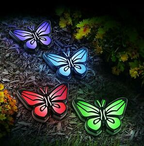 Four-set-Solar-Butterfly-Path-Lights-Cute-Lights-Garden-Lantern-LED-Pathway-Cute
