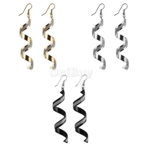 1 Pair Novelty Lady Twisted Wire Frosted Dangle Earring Fashion Elegant Decor