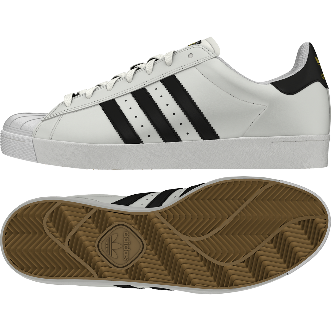 Adidas scarpe Superstar Vulc ADV bianca nero bianca bianca bianca Skateboard scarpe da ginnastica Originals ba706c