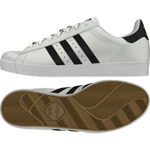 competitive price 1f773 fafc5 Image is loading Adidas-Shoes-Superstar-Vulc-ADV-White-Black-White-