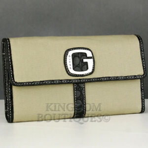 Details about Brand New Rare Collections GuEsS SLG Wallet Ladies ATOMIC BEACH Black Women
