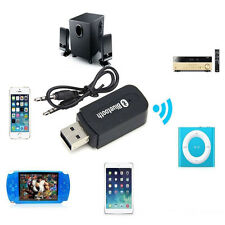3.5mm Car Wireless Bluetooth Aux Audio Stereo Music Receiver Adapter Mic For PC