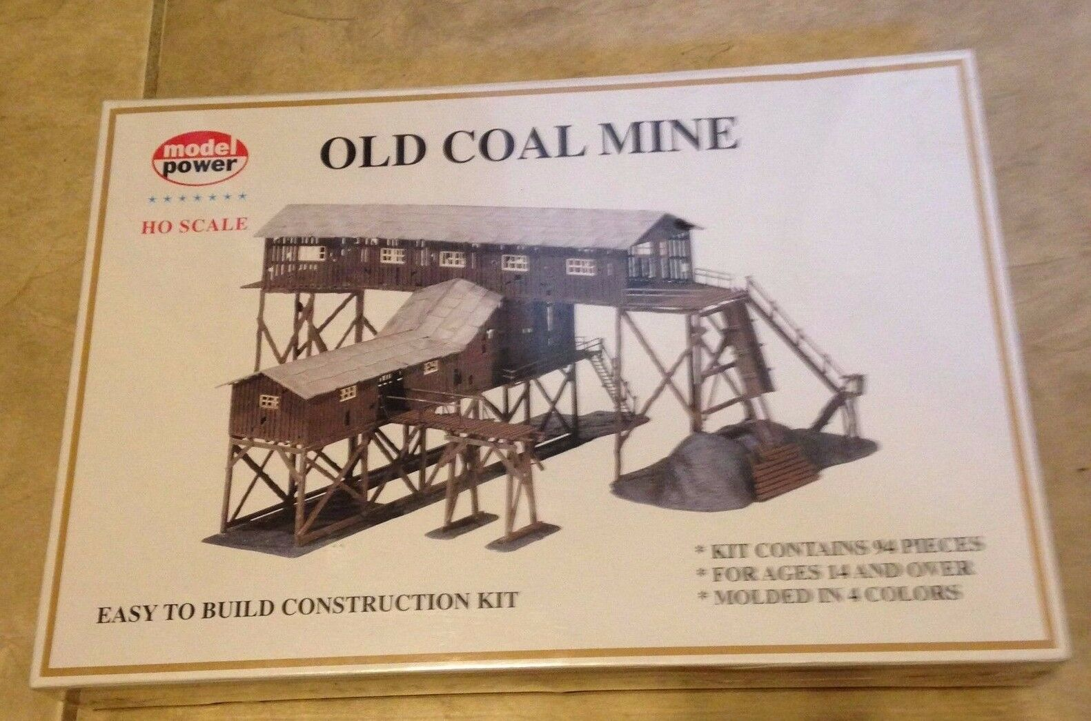 HO Scale-Model Power-316-Old Power-316-Old Power-316-Old Coal Mine Model Kit-94 Pcs Molded in 4 colors NEW 5d5eee