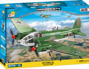 Cobi 5717 - Heinkel He 111 P-2 (675pcs) Building Blocks WWII Historic Collection