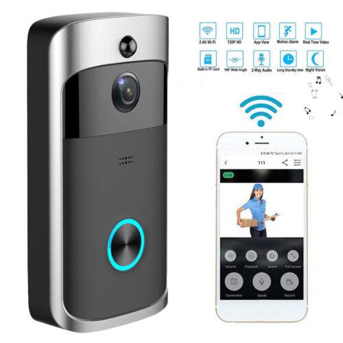 Smart Wireless WiFi Home Security DoorBell Night Vision Door Visual Recording