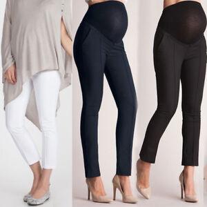 Women S Maternity Pregnant High Waist Comfortable Trousers Leggings Bump Pants Ebay