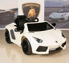 Ride On Car Kids Lamborghini Power Wheels RC Remote White Aventador 12V Battery