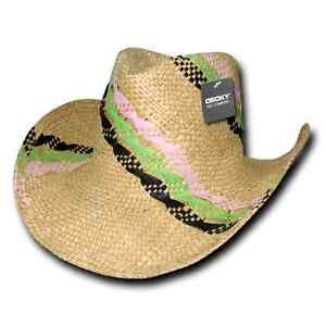 08232458da186 1 Dozen DECKY Hillary Yellow Straw Cowboy Hats Mens Unisex Wholesale ...