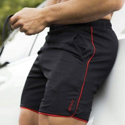 Été Hommes Shorts De Course Sport Fitness Pantalon Court Séchage Rapide Gym Slim court TK