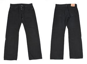 Levi's 501 Noir Jeans Jambe Droite Jeans Hommes W34 L30