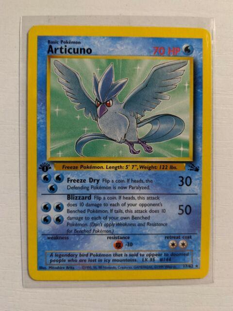 Articuno 17/62 1st Edition - Fossil Set WOTC Pokemon Card - NM LP