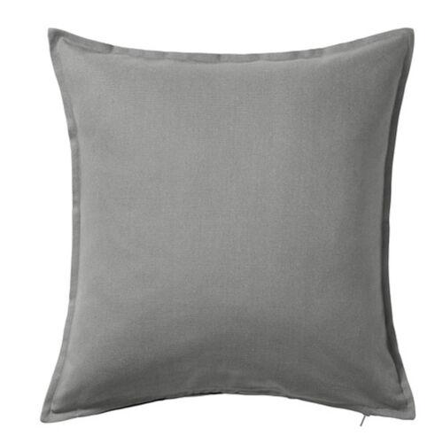 IKEA gurli Taie d/'oreiller Housse Coussin Taie d/'oreiller gris coton 50x50cm Neuf