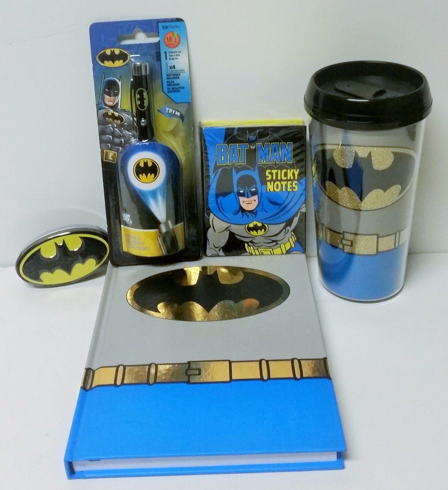Batman Writer's Gift Bundle Batman Journal Batman Pen Batman Mints & MORE