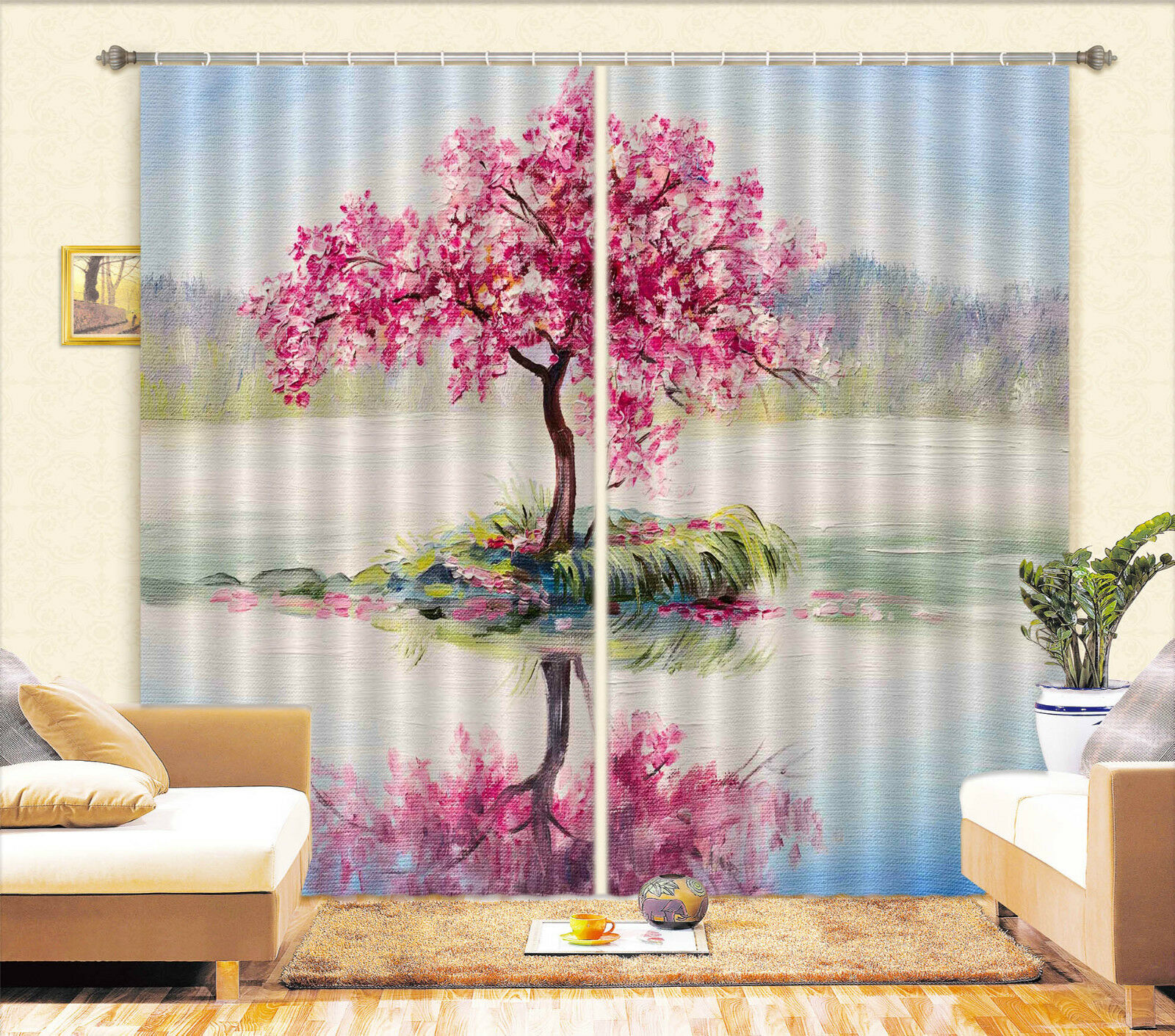 3d pinturas árbol 202 bloqueo foto cortina cortina de impresión sustancia cortinas de ventana