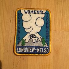 New Vintage Womens Bowling Longview Kelso WA 1982 Embroidered Logo Fabric Patch