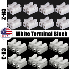 Self Lock Quick Electrical Wire Connectors Ch 2 Ch 3 White Terminal Block
