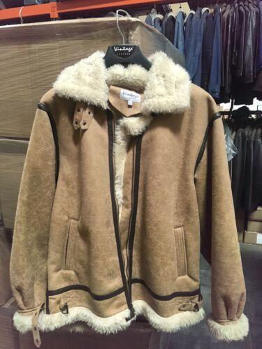 Vintage Leather Jacket With Fur Fur coat 1990s Siz