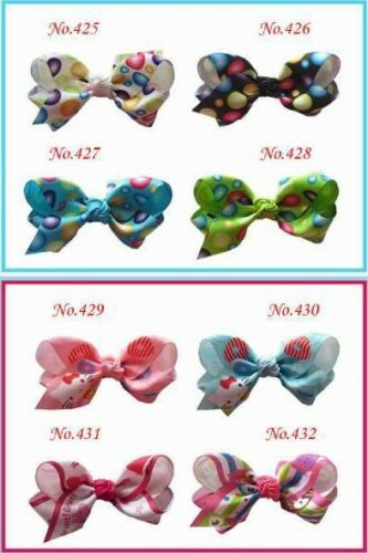100 BLESSING Good Girl costume Boutique 3 Inch ABC Hair Bows clip 474 No.