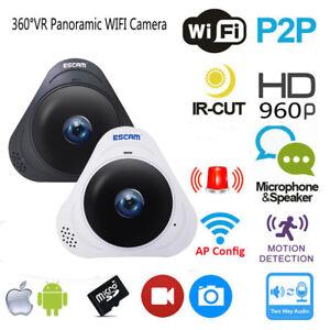 WiFi-CCTV-Camera-360-IP-Panoramic-Fisheye-Wireless-Home-Security-P2P-960P-HD-3D