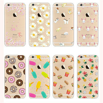 Ultra Thin Crystal Clear Pattern Soft TPU Case Cover For iPhone SE 5 6 6s Plus 7