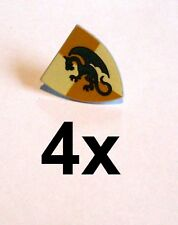 Lego 4x Ritterschild grüner Drache Shield Triangular  green Dragon  Neu Castle