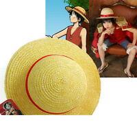 One Piece Luffy Anime Cosplay Straw Boater Beach Hat Cap Halloween Z
