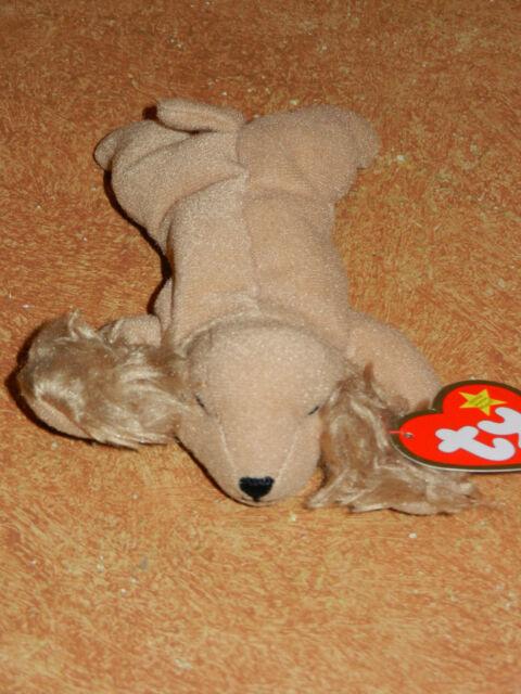 Ty Beanie Baby-Mcdonalds HAPPY MEAL Mini-Novo em folha-Spunky o Spaniel