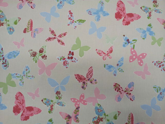 Prestigious Butterfly Vintage Curtain Upholstery Craft Designer Cotton Fabric