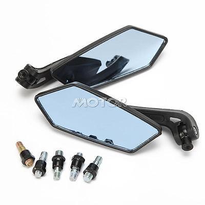 Black Universal Motorcycle Rearview Side Mirror For Street Sport Bike 8MM 10MM