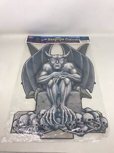 Vintage-NOS-Beistle-Halloween-Die-Cut-Cutout-1998-GARGOYLE-Decorations-NEW