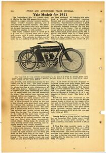 1911 Yale Motorcycles Article & Pic: 7hp Model  - Consolidated Mfg. Toledo, OhiO